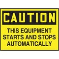Accuform Signs® 3 1/2in. x 5in. Adhesive Vinyl Safety Label in.CAUTION THIS E..in., Black On Yellow, 5/Pack