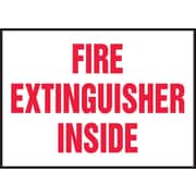 Accuform Signs® 3 1/2 x 5 Adhesive Vinyl Safety Label FIRE EXTINGUISHER.., Red On White, 5/Pack