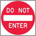 Accuform Signs® 24in. x 24in. Reflective Aluminum Lane Guidance Sign in.DO NOT ENTERin., Red On White