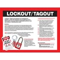 Accuform Signs® Lockout/Tagout Safety Awareness Poster, Red/Black On White