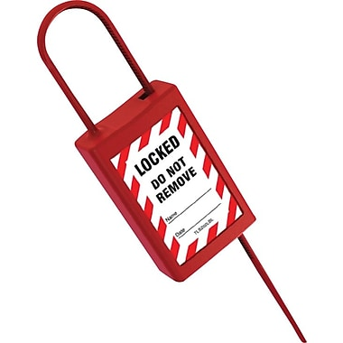 Accuform Signs® STOPOUT® Plastic Disposable Padlock Seal, Red