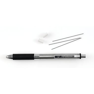 AvantPro™ Mechanical Pencil with Lead and Eraser Refills, 0.5mm, Stainless Steel Barrel, Each