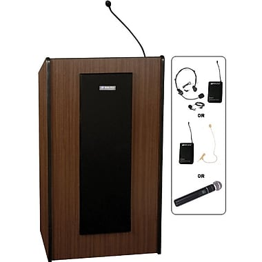Amplivox Presidential Lecterns Wireless (Medium Oak)