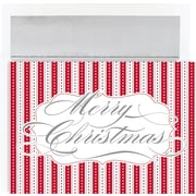 Great Papers® Merry Christmas Stripes Holiday Cards & Envelopes
