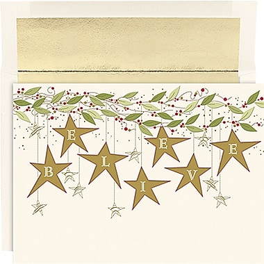 Great Papers® Holiday Cards Believe Stars , 16/Count