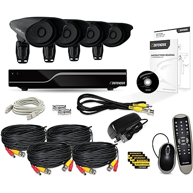 Defender® PRO Sentinel 8CH 1TB DVR w/ 4 x Hi-Res 600TVL 110ft Night Vision