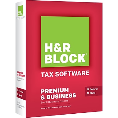 H&R Block Tax Software 13 Premium & Business For Windows (1 User) [Boxed]