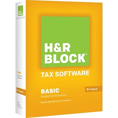 H&R Block Tax Software 13 Basic For Windows (1 User) [Boxed]