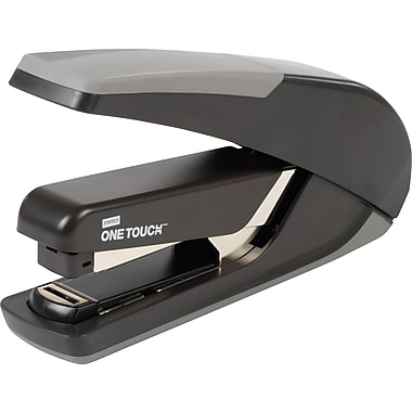 Staples® One-Touch™ Plus Desktop Flat Stack Full Strip Stapler, 30 Sheet Capacity, Black