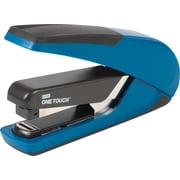 Staples® One-Touch™ Plus Desktop Flat Stack Full Strip Stapler, 30 Sheet Capacity, Blue