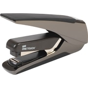 Staples One-Touch Alloy Plus Executive Metal, Flat Stack, Full Strip Stapler, 30-Sheet Capacity, Black Chrome (25114)