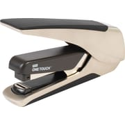 Staples One-Touch Alloy Plus Executive Metal, Flat Stack, Full Strip Stapler, 30-Sheet Capacity, Champagne (25116)