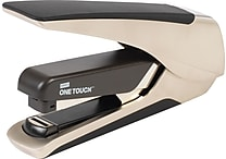 Staples® One-Touch™ Alloy Plus Executive Metal, Flat Stack, Full Strip Stapler, 30 Sheet Capacity, Champagne