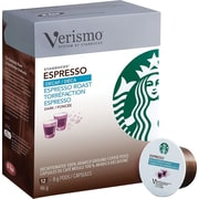 Starbucks® Verismo™ Coffee Pods, Decaf Expresso Roast, 12/Pack