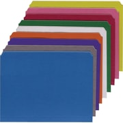 Staples® Colored File Folders, Letter, Single Tab, Assortment B, 100/Box