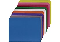 Staples Single Tab Colored File Folders, Letter, Assortment B, 100/Box