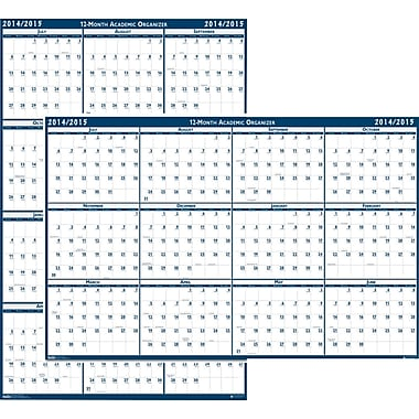 House of Doolittle® Erasable Academic Wall Planner, 18 x 24in., 2014-2015