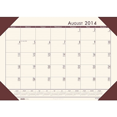 House of Doolittle EcoTone Academic Desk Pad Calendar 13in. x 18.5in. Cream/Brown