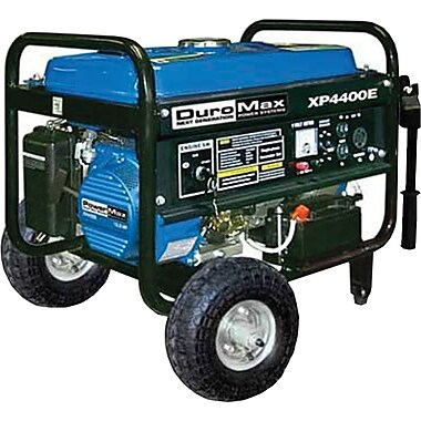DuroMax® XP4400E RV Grade 4400W, 7 Hp Gasoline Powered Generator with Electric Start & Wheel Kit