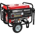 DuroStar DS4400-CA 4400W, 7 Hp Air-Cooled OHV Gasoline Powered Portable Generator Wheel Kit, CARB Compliant