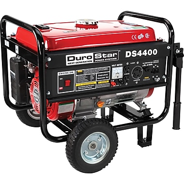DuroStar® DS4400 4400W, 7 Hp Air-Cooled OHV Gasoline Powered Generator with Wheel Kit
