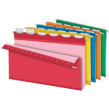 Pendaflex® Ready-Tab Box-Bottom Hanging File Folders, Legal, 2in. Capacity, Assorted, 20/Box
