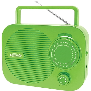 Jensen MR-550-G Portable AM/FM Radio, Green