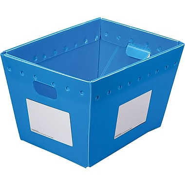 Postal Tote, Collapsible, Blue, 2/Pack