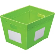 Postal Tote, Collapsible, Lime, 2/Pack