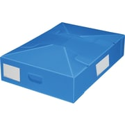 Plastic Storage Box, Under Bed, Collapsible, Blue, 2/Pack