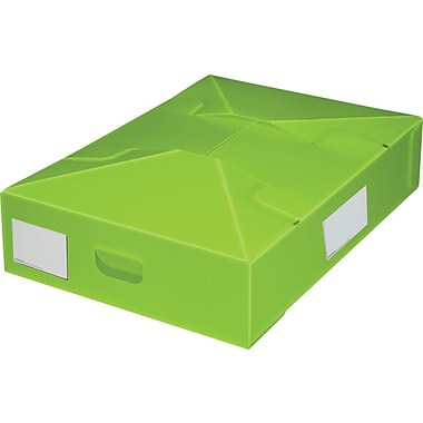 Plastic Storage Box, Under Bed, Collapsible, Lime, 2/Pack