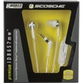 Scosche Premium Headphones with Controls, White