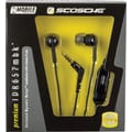 Scosche Premium Headphones with Controls, Black