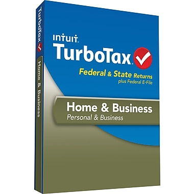 TurboTax Home & Bus Fed+Efile+State 2013 (1 User) [Boxed]