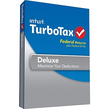TurboTax Deluxe Fed + Efile  (1 User) [Boxed]