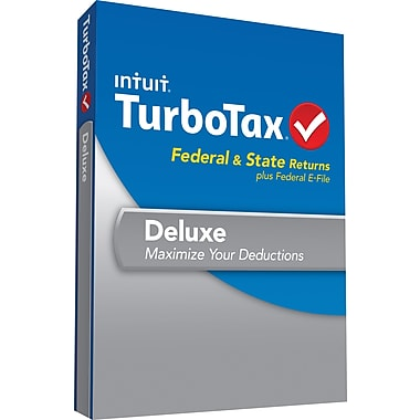 TurboTax Deluxe Fed + Efile + State 2013 (1 User) [Boxed]