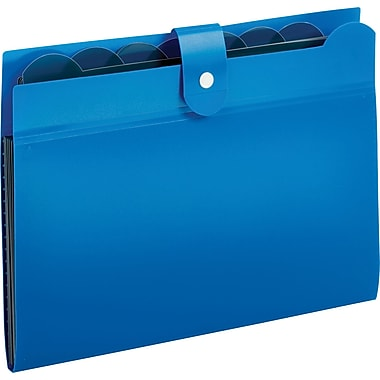 Globe-Weis 7 Pocket Expanding File, Blue