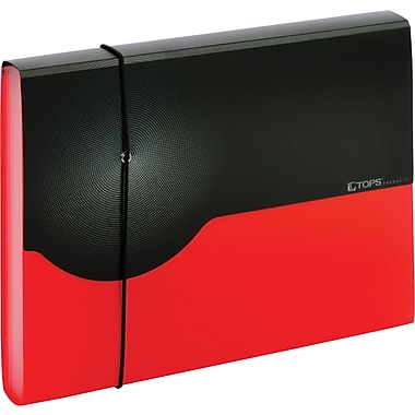 Globe-Weis 7 Pocket Poly Expanding File – Letter, Red