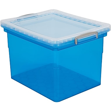 Really Useful Boxes® 31L File Box, Blue