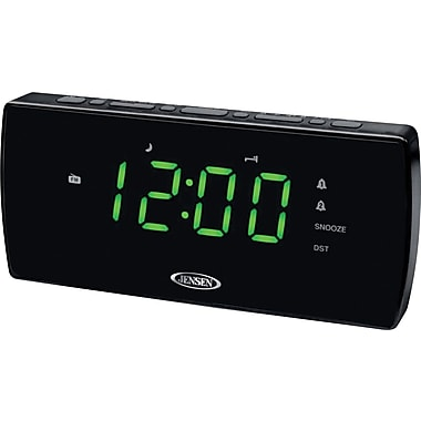 Jensen JCR-230 Dual Alarm Clock with Auto Time Set