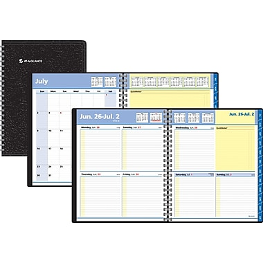 2014/2015 AT-A-GLANCE® QuickNotes® Academic Weekly/Monthly Planner, 8in. x 9 7/8in.