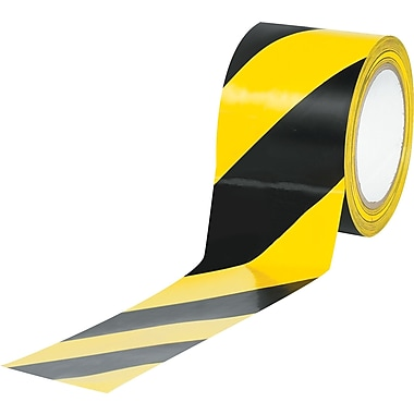 Tape Logic™ 3in. x 36 yds. Striped Vinyl Safety Tape, Black/Yellow, 3/Pack