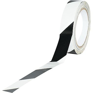 Tape Logic™ 1in. x 36 yds. Striped Vinyl Safety Tape, Black/White, 3/Pack