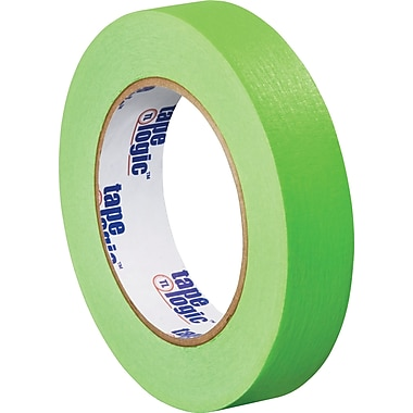 Tape Logic™ 1in. x 60 yds. Masking Tape, Light Green, 12/Case