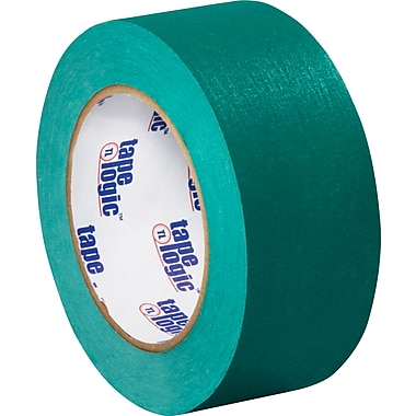 Tape Logic™ 2in. x 60 yds. Masking Tape, Dark Green, 12/Case