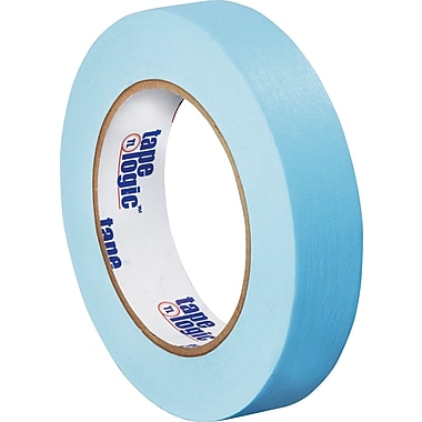 Tape Logic™ 1in. x 60 yds. Light Masking Tape, Blue, 12/Case