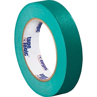 Tape Logic™ 1in. x 60 yds. Masking Tape, Dark Green, 12/Case