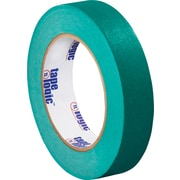 "Tape Logic™ 1"" x 60 yds. Masking Tape, Dark Green, 12/Case"
