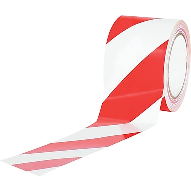 Tape Logic™ 3in. x 36 yds. Striped Vinyl Safety Tape, Red/White, 3/Pack
