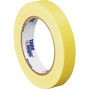 Tape Logic™ 3/4in. x 60 yds. Masking Tape, Yellow, 12/Case